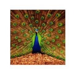3d Peacock Bird Small Satin Scarf (square)