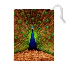 3d Peacock Bird Drawstring Pouches (extra Large)
