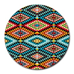 African Tribal Patterns Round Mousepads