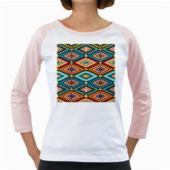 African Tribal Patterns Girly Raglans