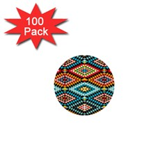 African Tribal Patterns 1  Mini Buttons (100 Pack)