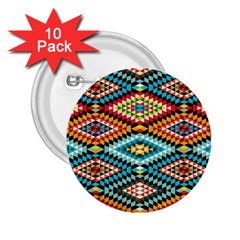 African Tribal Patterns 2 25  Buttons (10 Pack)
