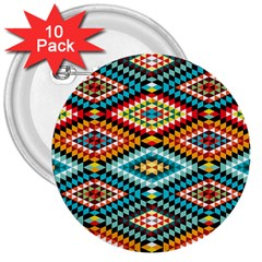 African Tribal Patterns 3  Buttons (10 Pack)