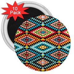 African Tribal Patterns 3  Magnets (10 Pack)