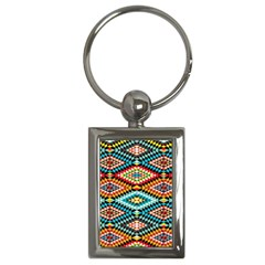 African Tribal Patterns Key Chains (rectangle)