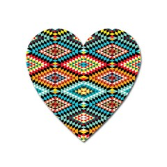 African Tribal Patterns Heart Magnet