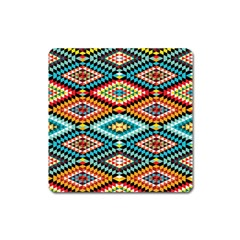 African Tribal Patterns Square Magnet
