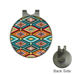 African Tribal Patterns Hat Clips With Golf Markers
