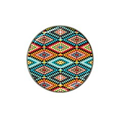 African Tribal Patterns Hat Clip Ball Marker