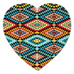 African Tribal Patterns Jigsaw Puzzle (heart)