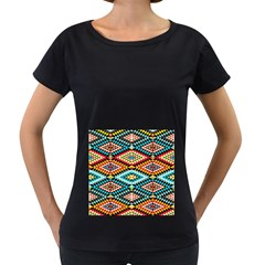 African Tribal Patterns Women s Loose-Fit T-Shirt (Black)