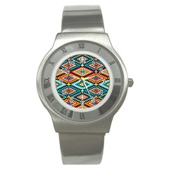 African Tribal Patterns Stainless Steel Watch