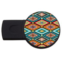 African Tribal Patterns USB Flash Drive Round (4 GB)