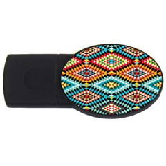 African Tribal Patterns USB Flash Drive Oval (4 GB)
