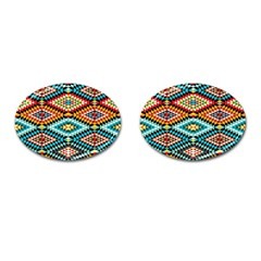 African Tribal Patterns Cufflinks (oval)