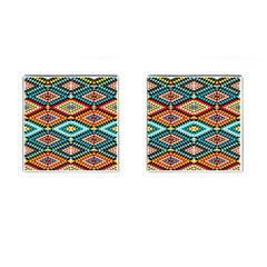 African Tribal Patterns Cufflinks (square)