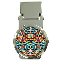 African Tribal Patterns Money Clip Watches