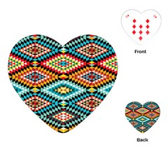 African Tribal Patterns Playing Cards (heart)