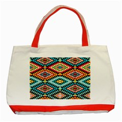 African Tribal Patterns Classic Tote Bag (Red)