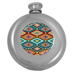 African Tribal Patterns Round Hip Flask (5 oz)