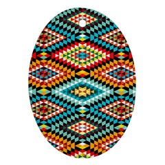 African Tribal Patterns Oval Ornament (Two Sides)