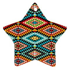 African Tribal Patterns Star Ornament (two Sides)