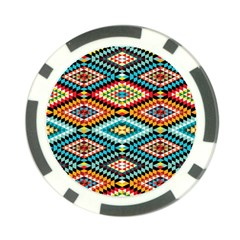 African Tribal Patterns Poker Chip Card Guard