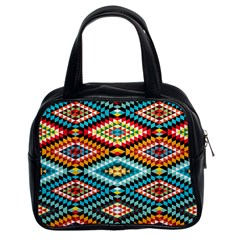 African Tribal Patterns Classic Handbags (2 Sides)