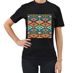 African Tribal Patterns Women s T Shirt (black)