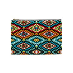African Tribal Patterns Cosmetic Bag (medium)