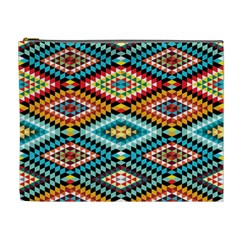 African Tribal Patterns Cosmetic Bag (XL)