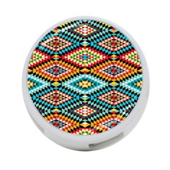 African Tribal Patterns 4 Port Usb Hub (one Side)