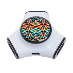 African Tribal Patterns 3 Port Usb Hub