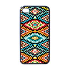 African Tribal Patterns Apple Iphone 4 Case (black)