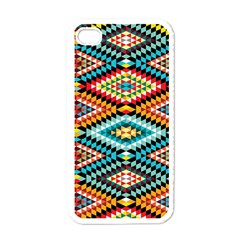 African Tribal Patterns Apple iPhone 4 Case (White)
