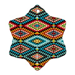 African Tribal Patterns Snowflake Ornament (two Sides)