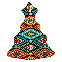 African Tribal Patterns Christmas Tree Ornament (two Sides)