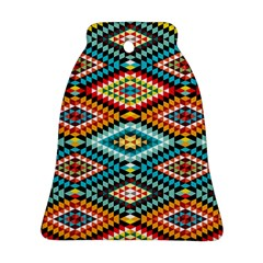 African Tribal Patterns Bell Ornament (two Sides)