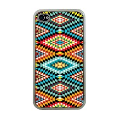 African Tribal Patterns Apple Iphone 4 Case (clear)