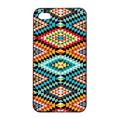 African Tribal Patterns Apple Iphone 4/4s Seamless Case (black)