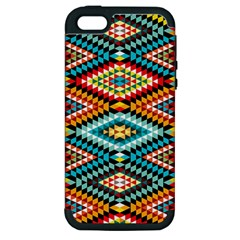 African Tribal Patterns Apple Iphone 5 Hardshell Case (pc+silicone)