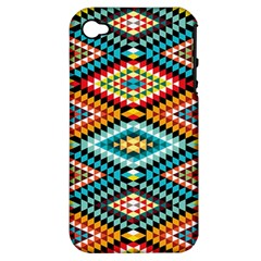 African Tribal Patterns Apple Iphone 4/4s Hardshell Case (pc+silicone)