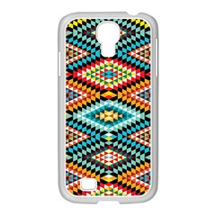 African Tribal Patterns Samsung Galaxy S4 I9500/ I9505 Case (white)