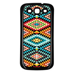 African Tribal Patterns Samsung Galaxy S3 Back Case (black)
