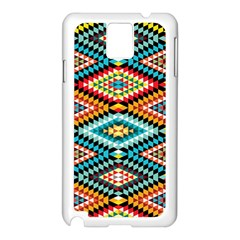 African Tribal Patterns Samsung Galaxy Note 3 N9005 Case (white)