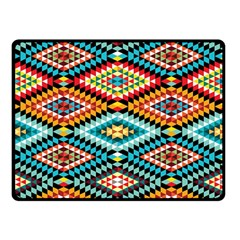 African Tribal Patterns Double Sided Fleece Blanket (small)