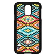 African Tribal Patterns Samsung Galaxy S5 Case (Black)