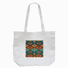African Tribal Patterns Tote Bag (White)