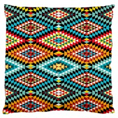 African Tribal Patterns Large Flano Cushion Case (one Side)