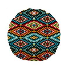 African Tribal Patterns Standard 15  Premium Flano Round Cushions